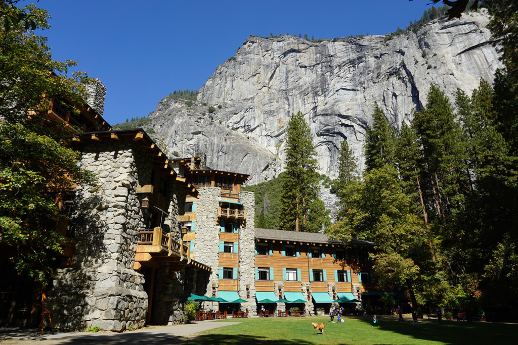 Exterior Shot of the Haunted Ahwahnee Hotel in Yosemite Valley.