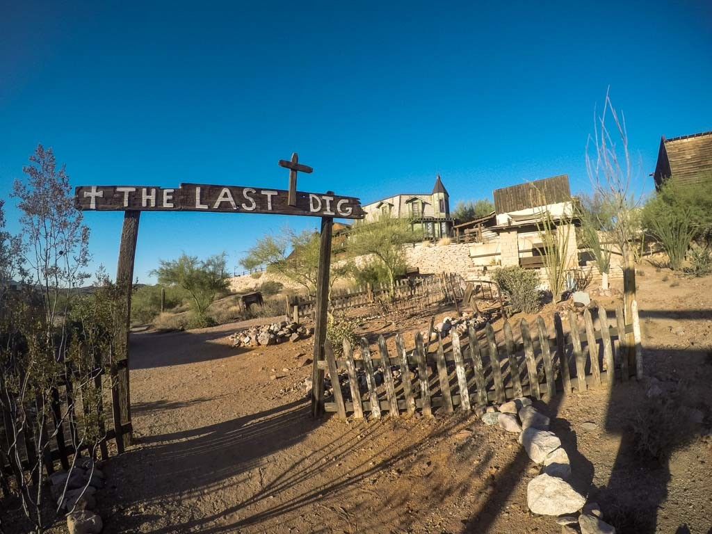 Goldfield Ghost Town's cemetery.