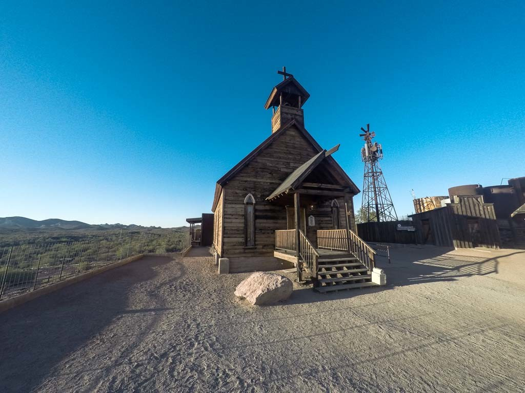 Goldfield Ghost Town's church.