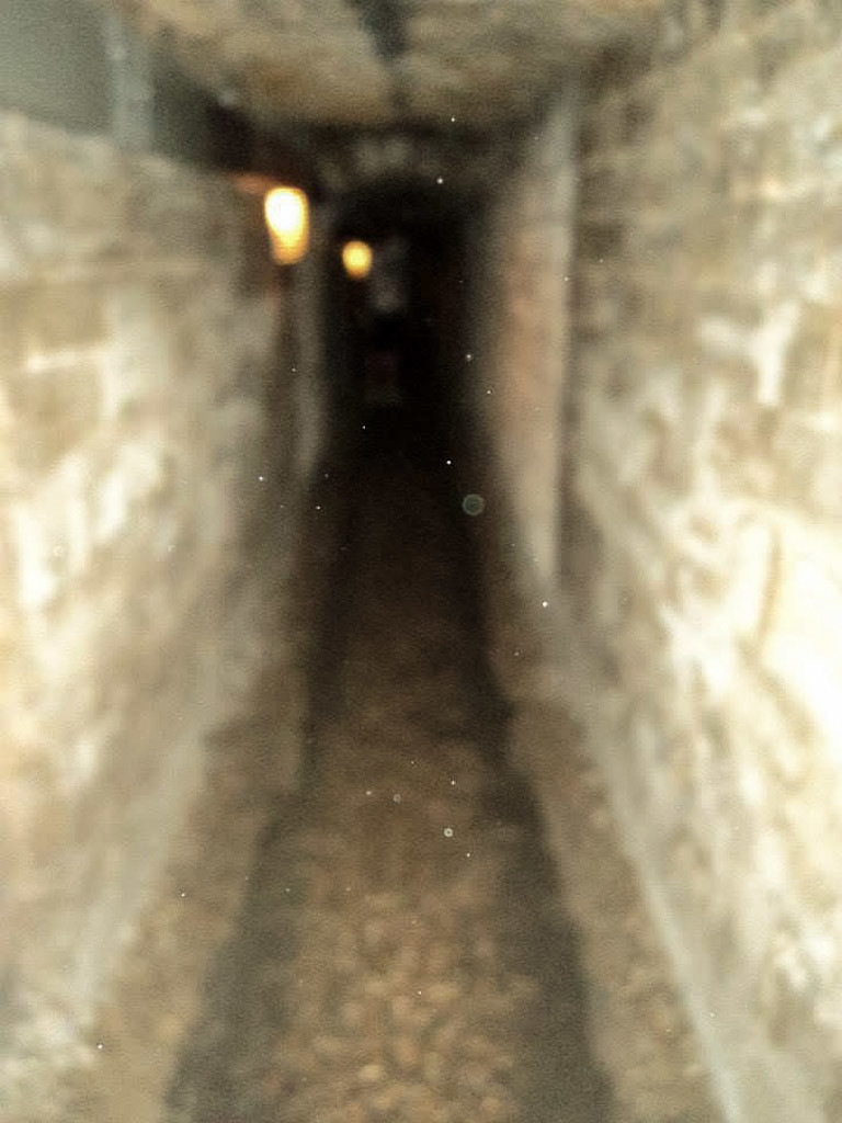 Orbs or dust? In the Paris Catacombs.
