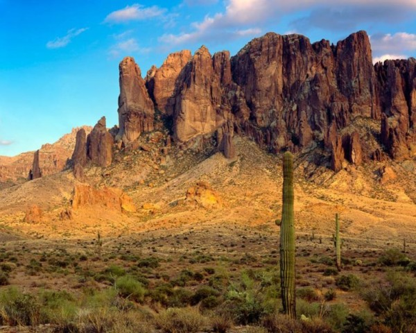 The Mysterious Superstition Mountains.