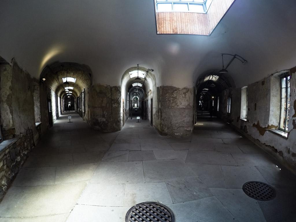 Corridors in Eastern State Penitentiary.