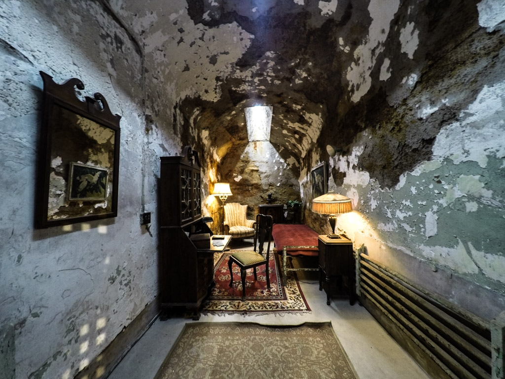 Al Capone's cell in Eastern State Penitentiary.