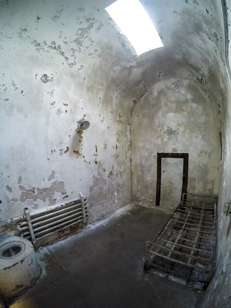 Solitary confinement cell.