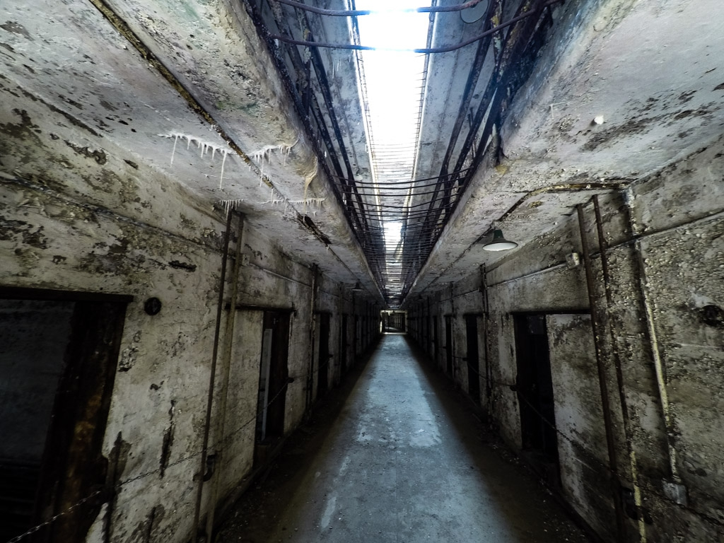 Cellblock in Eastern State Penitentiary.
