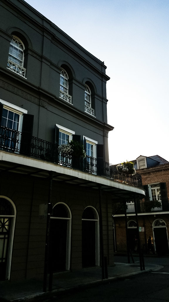 Side shot of the LaLaurie Mansion