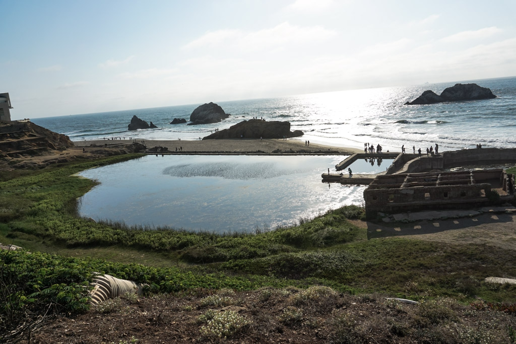 Abandoned pool at Sutro Baths.