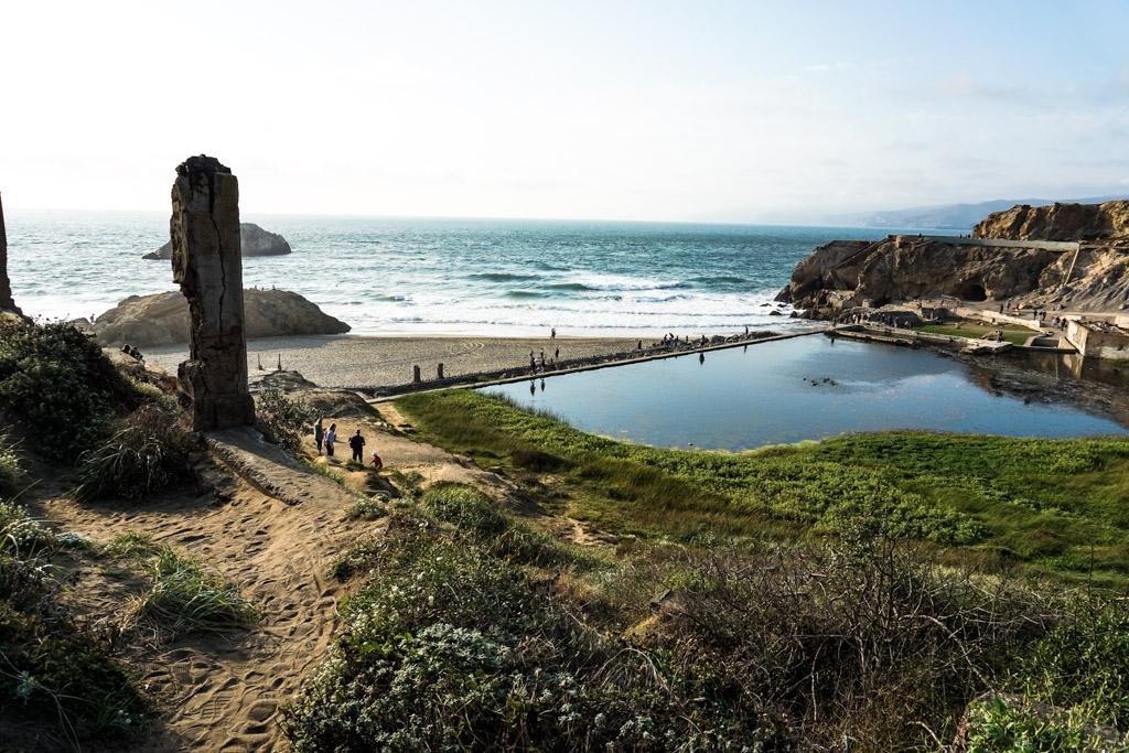 Sutro Baths ruins in San Francisco.