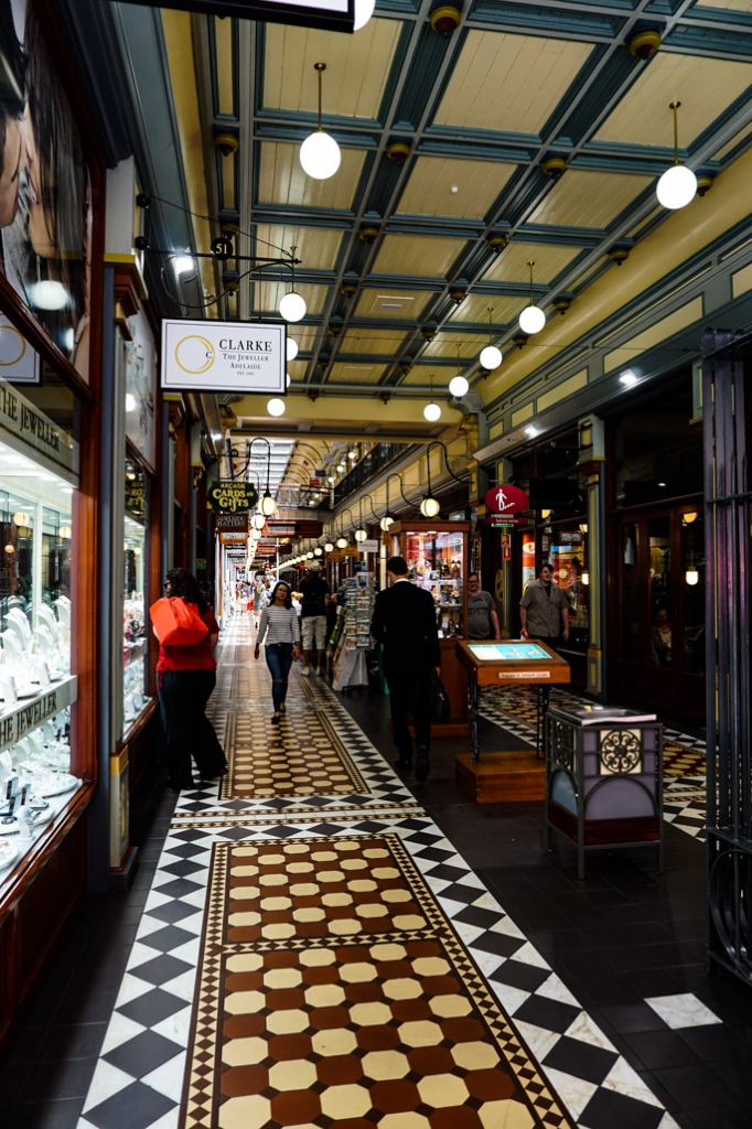 Bottom floor of Adelaide Arcade.