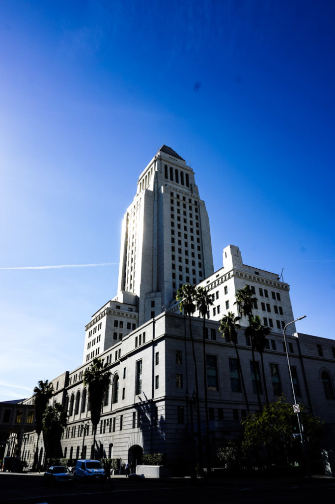Los Angeles City Hall's tower.