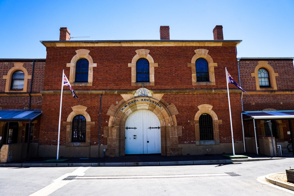 Front entrance to the Haunted Old Adelaide Gaol.