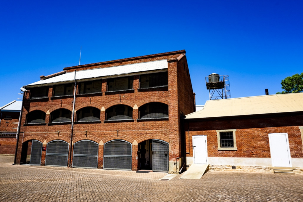 Old Adelaide Gaol's cellblock.