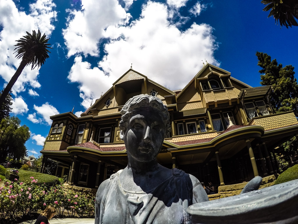 Winchester Mansion Statue.