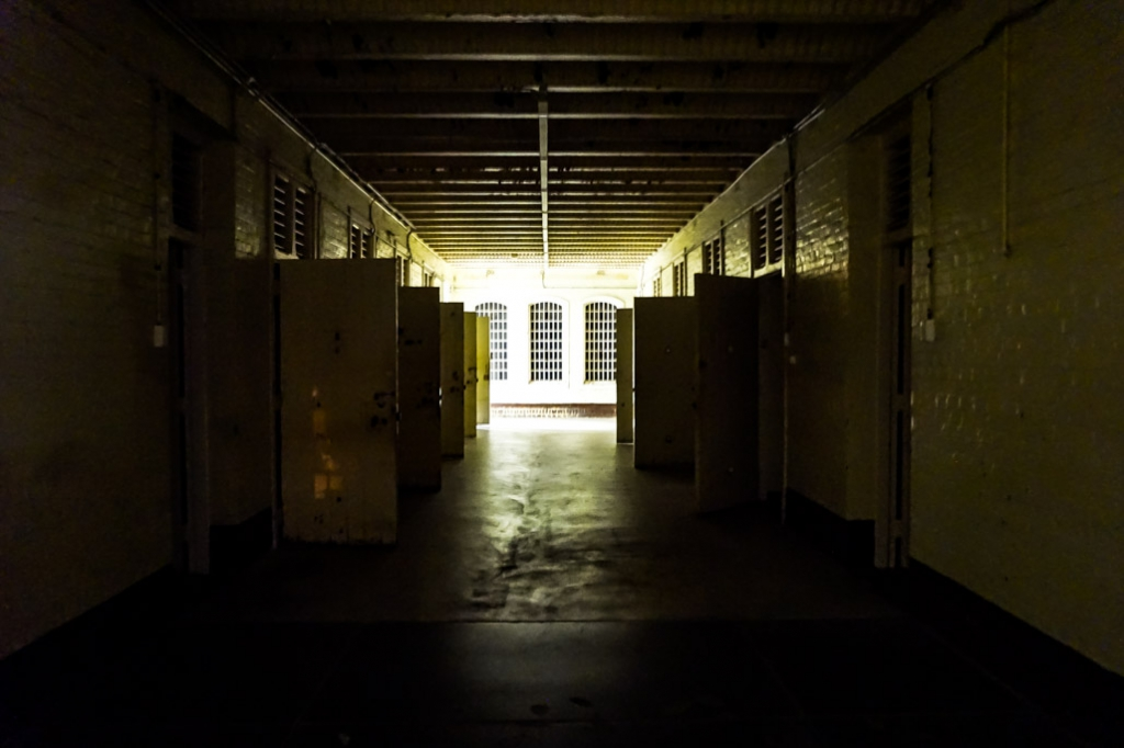 Dark cellblock in Z Ward in Adelaide, South Australia.