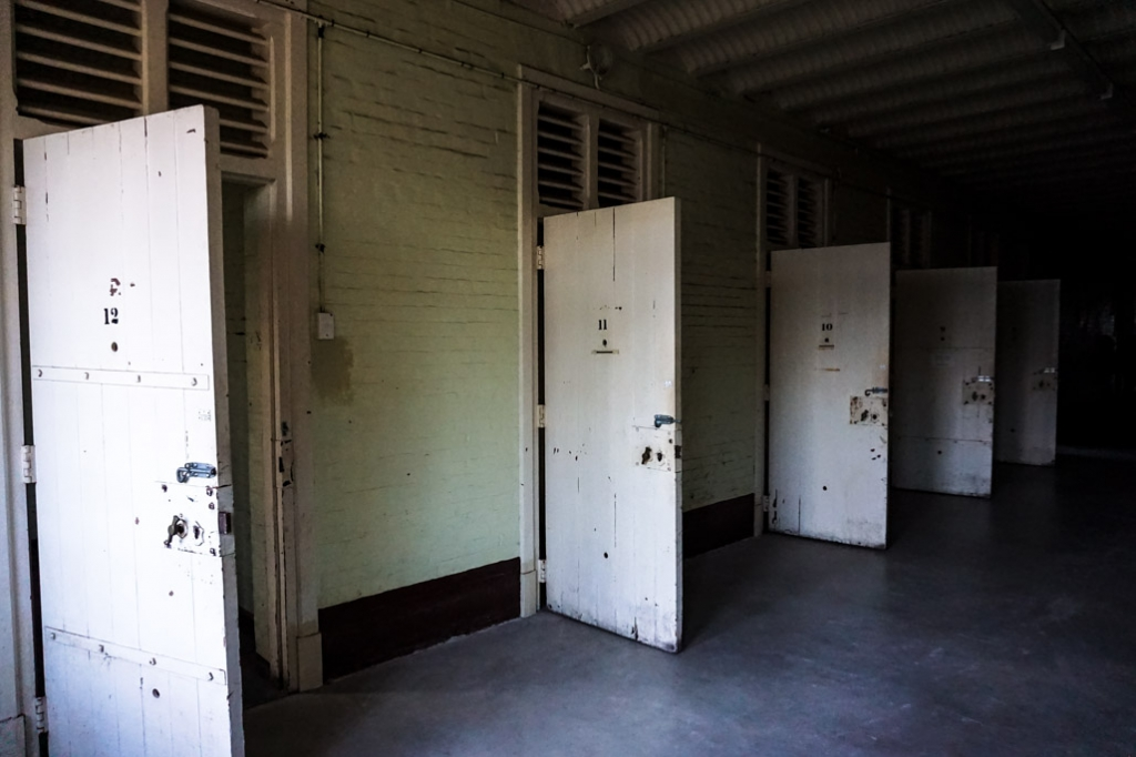 Cell doors in Z Ward.
