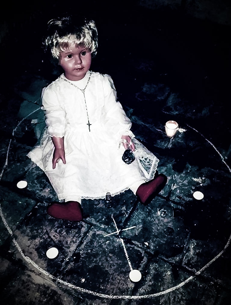 Peggy the haunted doll.