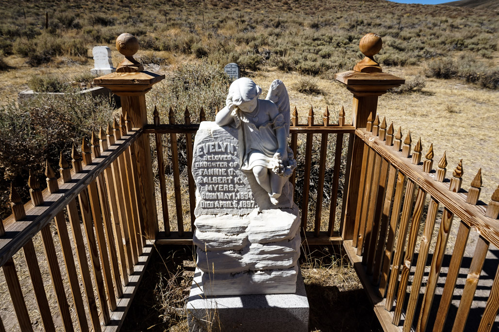 Ghost of Evelyn Myers at Bodie.