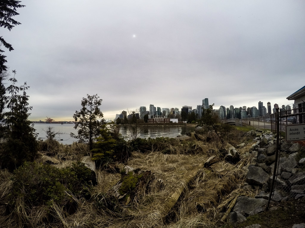 The haunted Deadman's Island of Stanley Park, Vancouver.