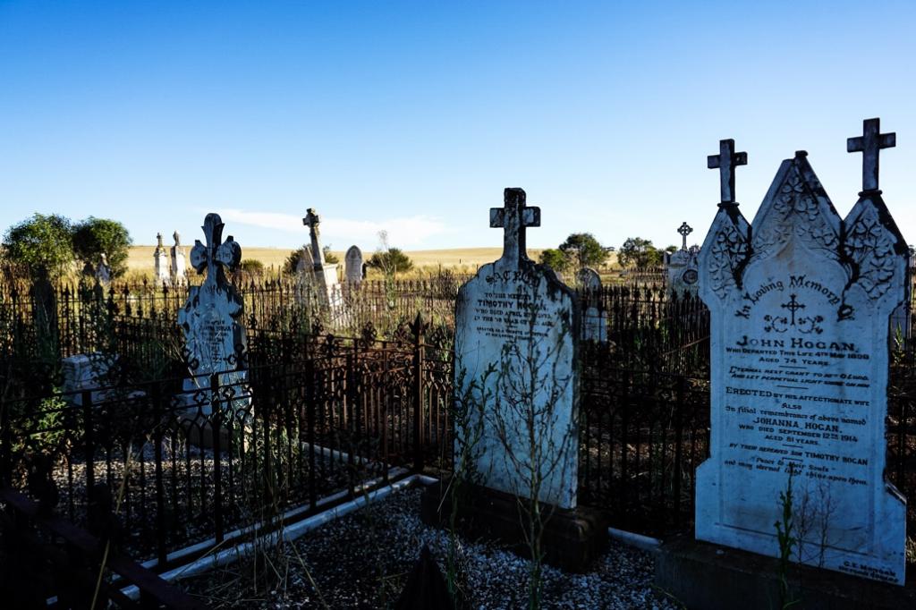 Tombstones in Kapunda's St. Johns Cemetery.