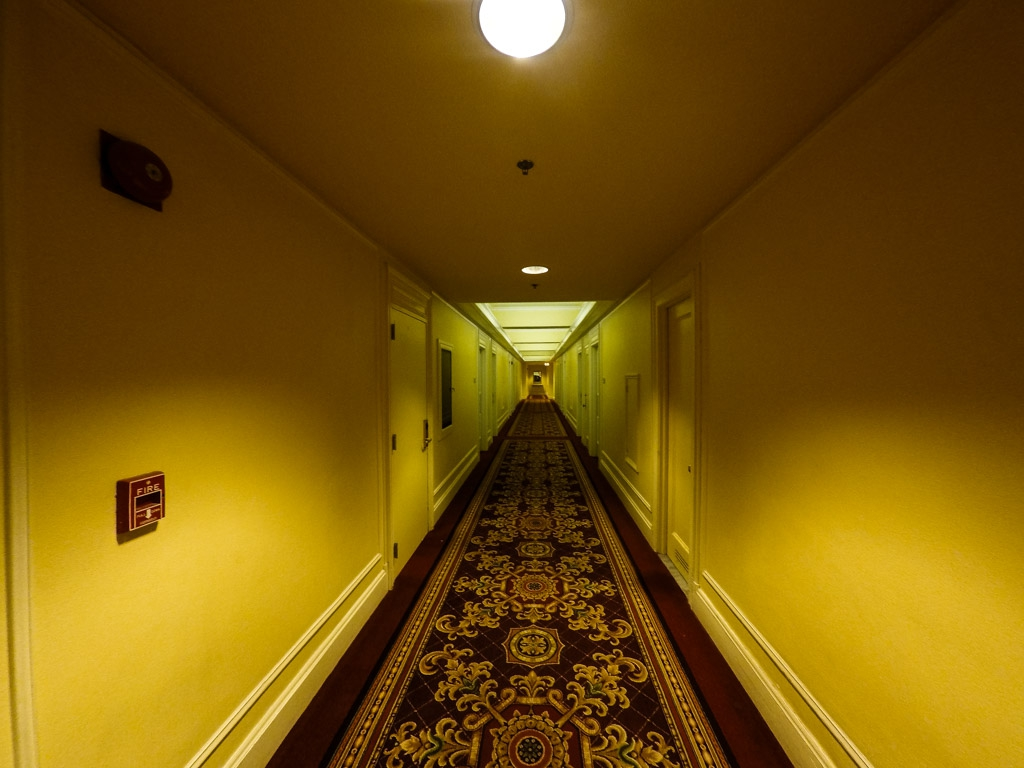 Haunted Millennium Biltmore Hotel hallways.