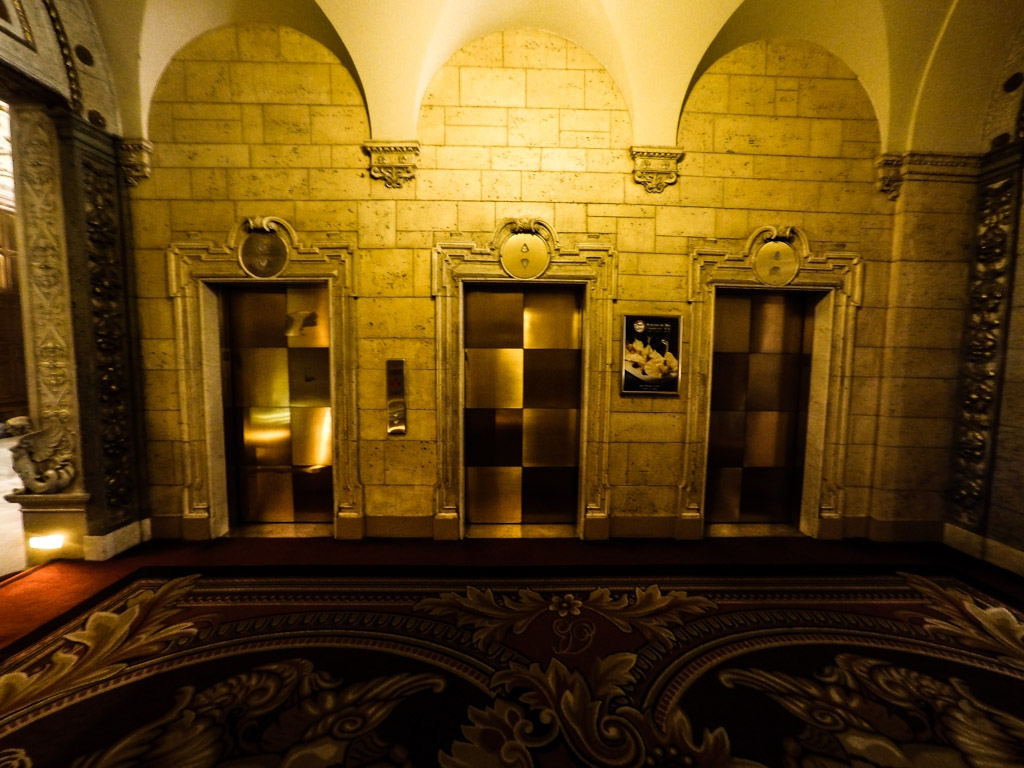 The Black Dahlia haunts the elevators at the Millennium Biltmore Hotel.