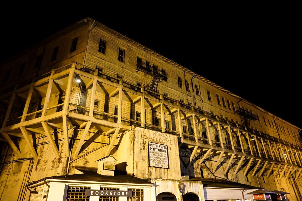 Haunted prison Alcatraz Federal Penitentiary.