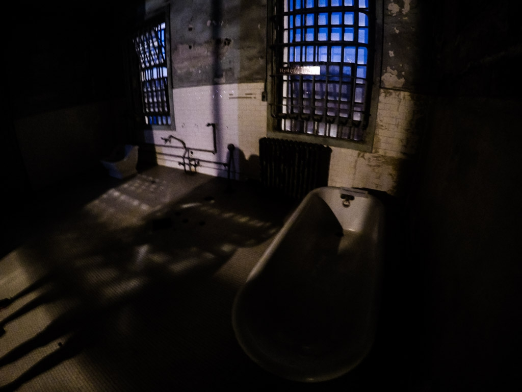 Hydrotherapy room in Alcatraz.