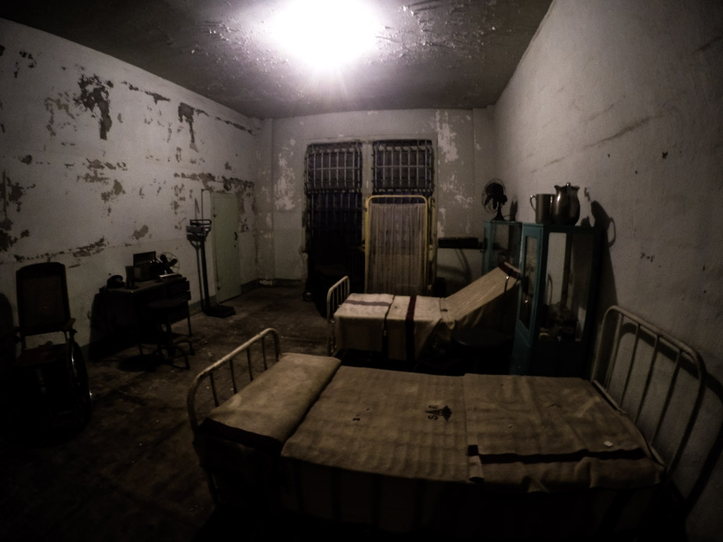 Hospital wing of Alcatraz Federal Penitentiary.