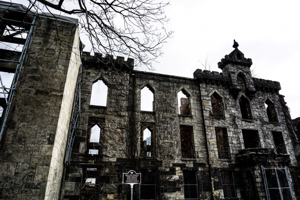 Roosevelt Island abandoned smallpox hospital.