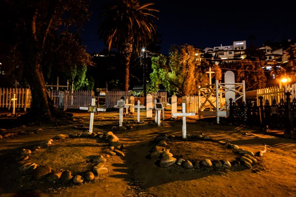 Ghosts in the El Campo Santo Cemetery, San Diego.