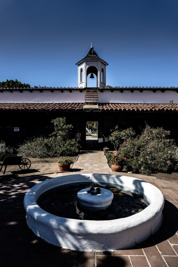 The Haunted Casa De Estudillo's courtyard.