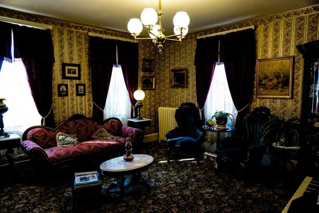 Lizzie Borden House decoration.