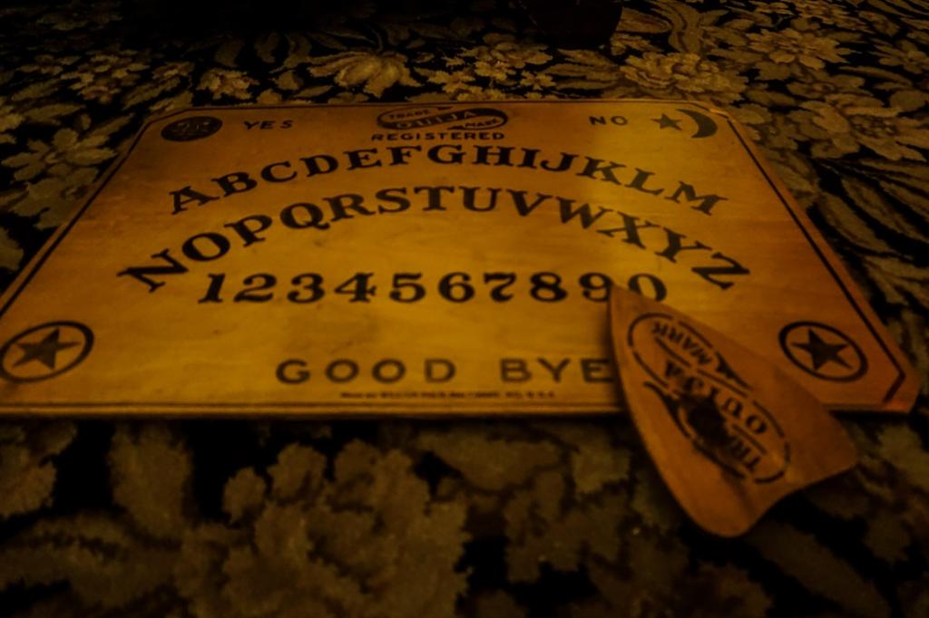 Ouija Board in Lizzie Borden house.