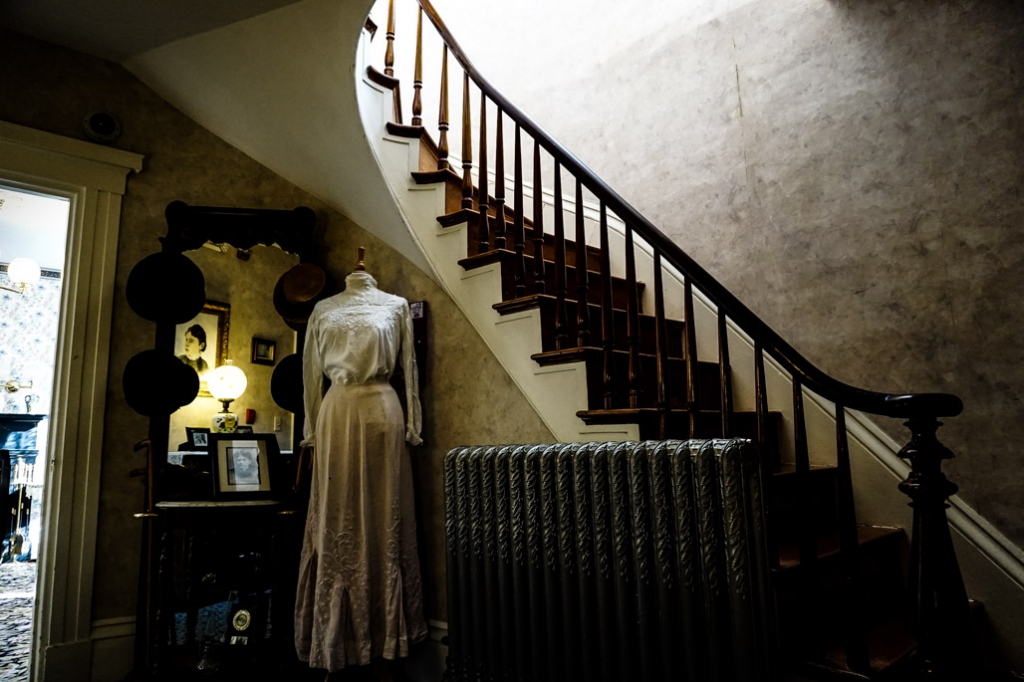 Lizzie Borden house stairs.