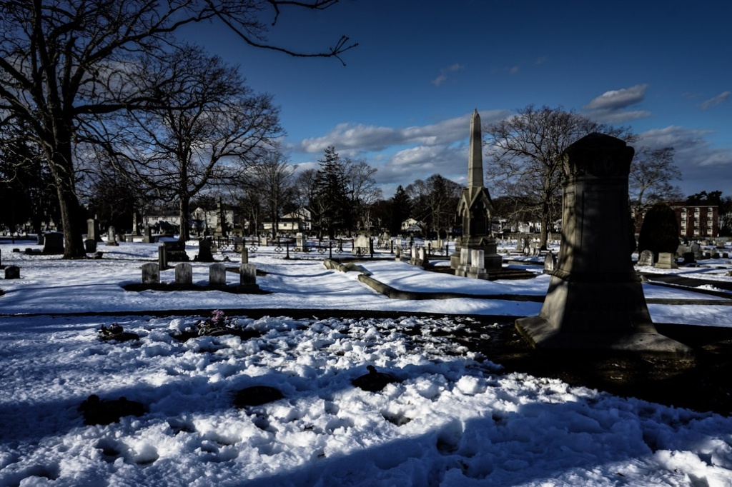 Borden family plot at Oak Grove Cemetery in Falls River.