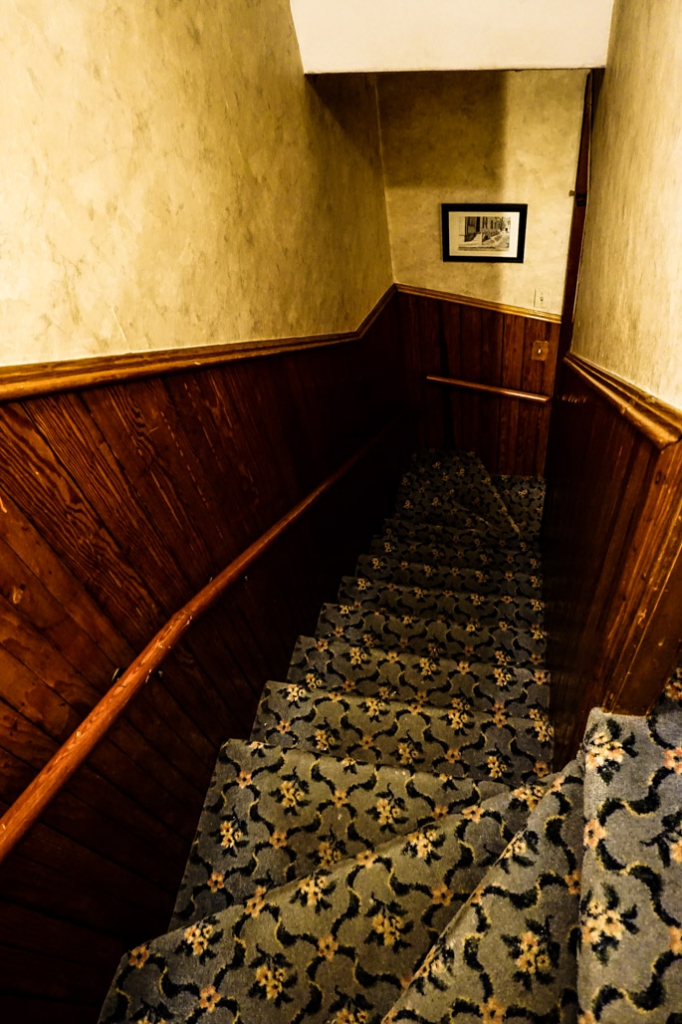 Stairs in Lizzie Borden House.