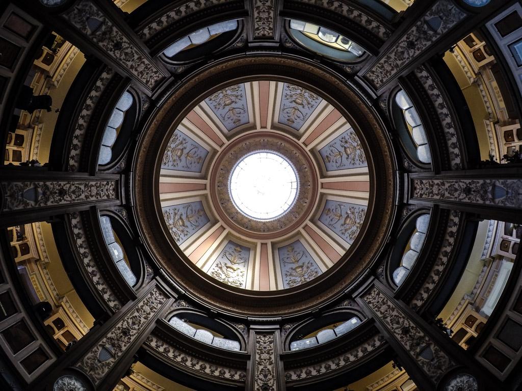 Ceiling inside the Neptune Society Columbarium.
