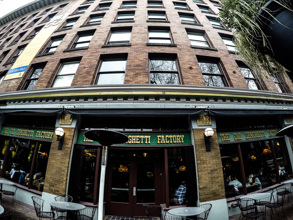 Vancouver, Gastown's haunted The Old Spaghetti Factory.