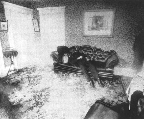Andrew Borden crime scene photo.
