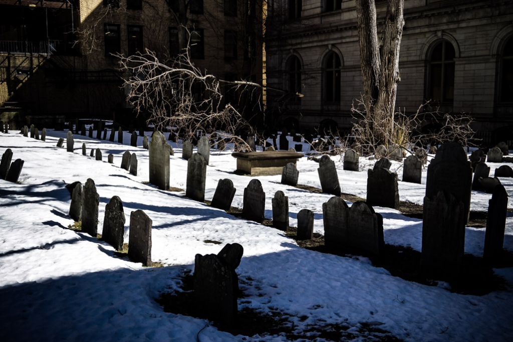 Haunted King's Chapel Burying Ground.