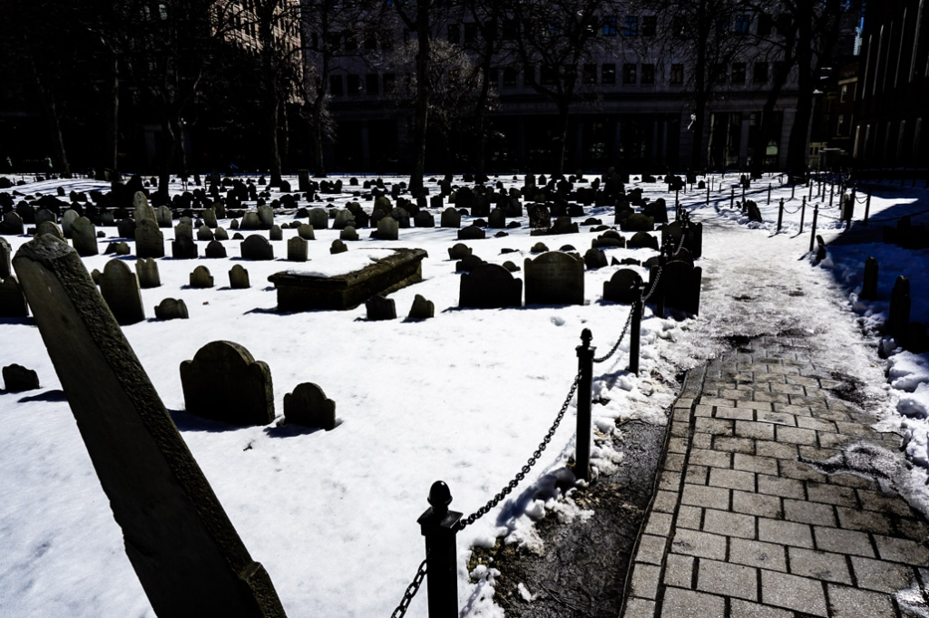Most haunted cemeteries in Boston.