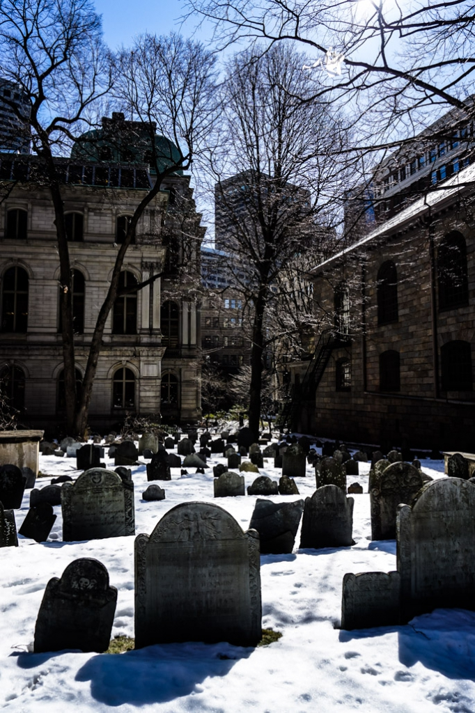 King's Chapel Burying Ground in Boston.