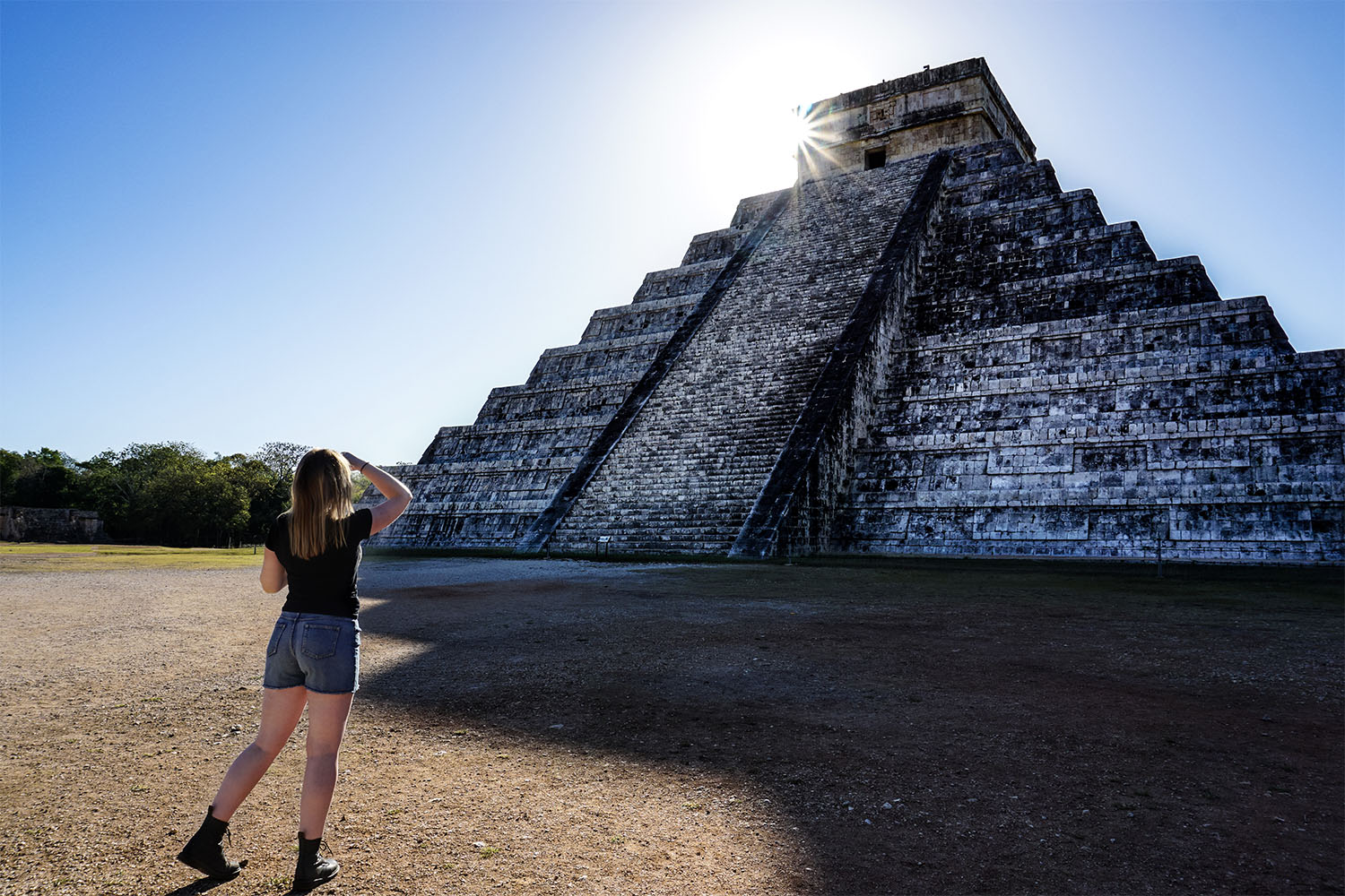 Haunted pyramid at Chichen Itza.