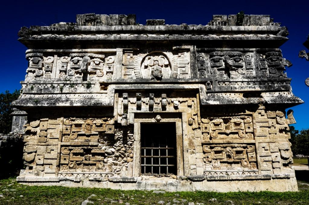 Temple ruin at haunted Chichen Itza.