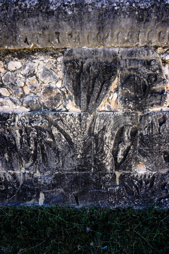 Decapitated, sacrificed ball game player at Chichen Itza.