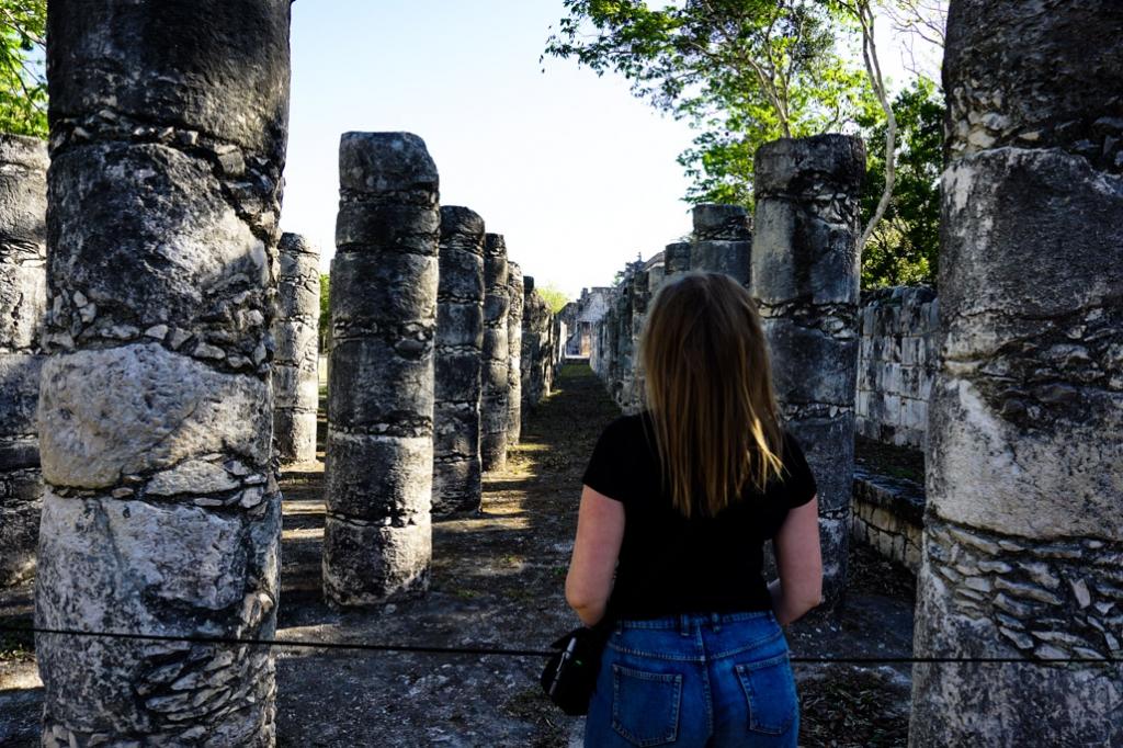 Plaza of 1000 Columns, Chichen Itza, Mexico.