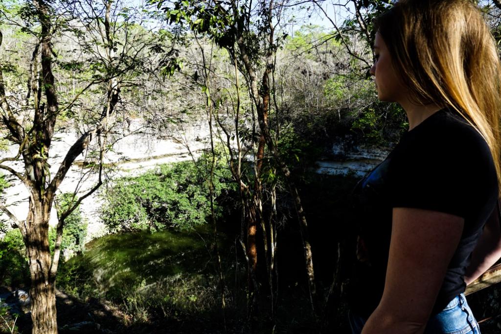 Grand Cenote at Chichen Itza, a place of human sacrifice.