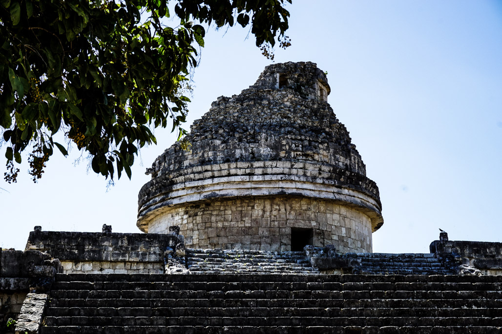 The most haunted place in Chichen Itza, the Observatory.