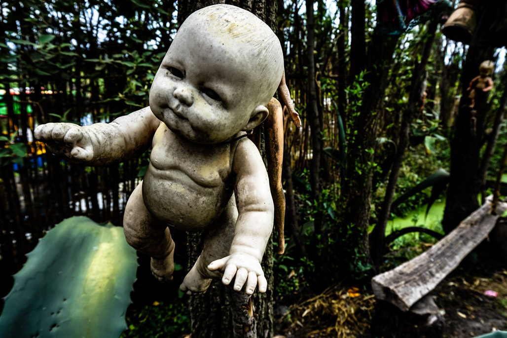 Haunted Island of the Dolls in Mexico.