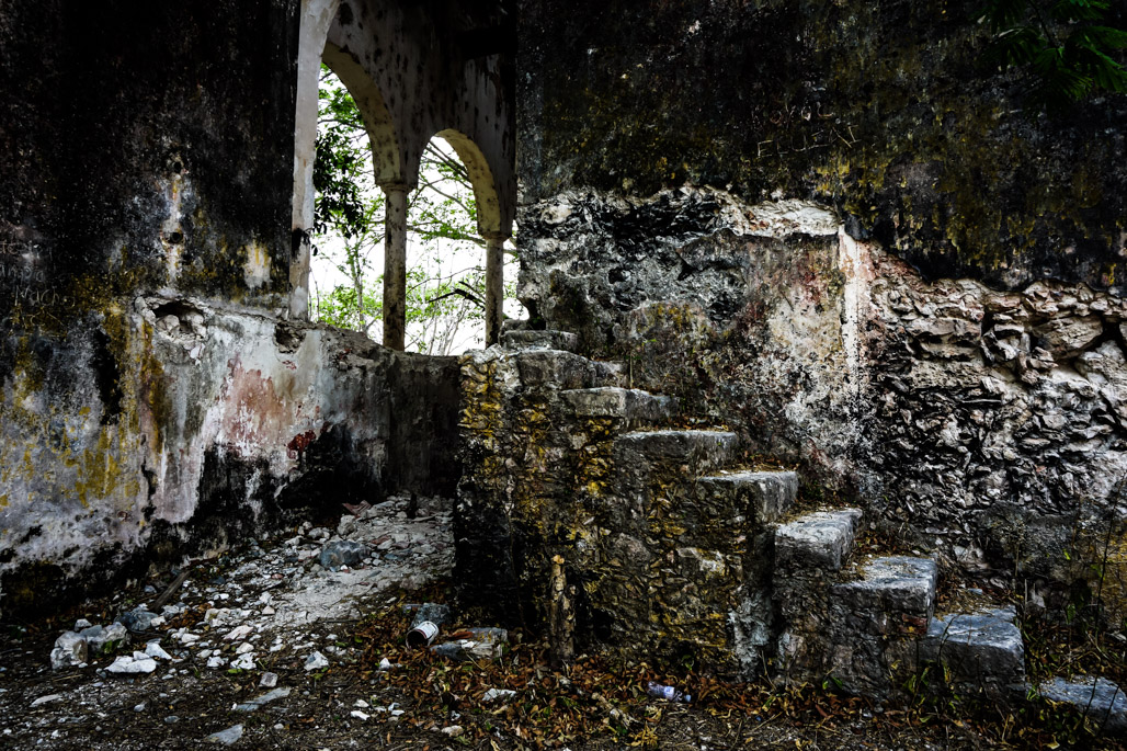 Abandoned and haunted ghost town in Mexico.